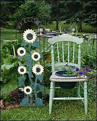 Garden in Willseyville, New York.